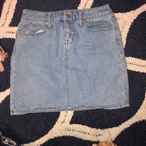 Mossimo Lightwash Jean Skirt